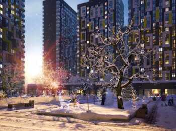 Зимняя подсветка жилого комплекса